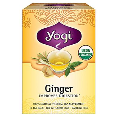 Yogi 0355115 Organic Herbal Tea Caffeine Free Ginger - 16 Tea Bags