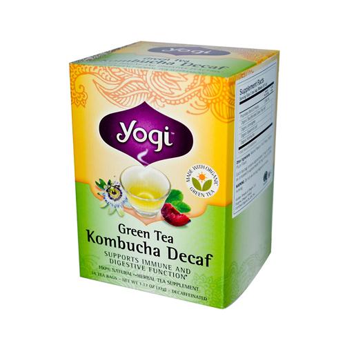 Yogi 355313 Yogi Herbal Green Tea Caffeine Free Kombucha - 16 Tea Bags - Case of 6