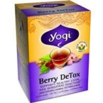 Yogi 39444-3pack Yogi Berry Detox Tea - 3x16 bag