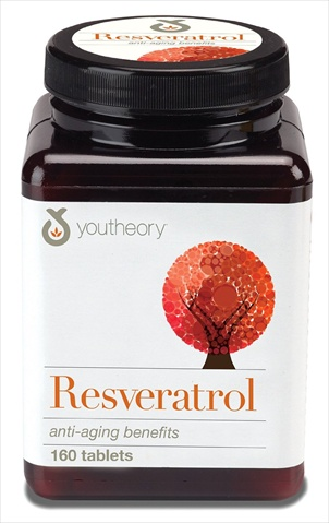 Youtheory Resveratrol Anti-Aging Formula 160 Tablets
