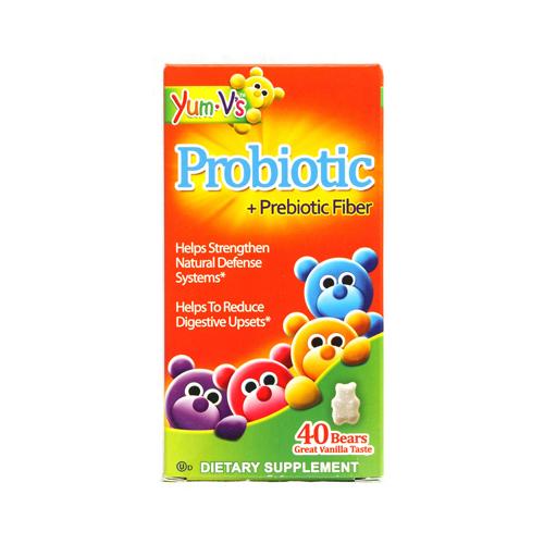 Yum Vs 1137850 Probiotic Plus Prebiotic Fiber Vanilla Bears 40 Count