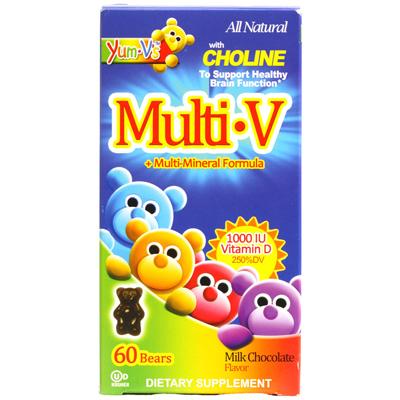 Yum Vs Multi-V plus Multi-Mineral Formula Milk Chocolate - 60 Bears