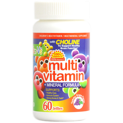 Yum Vs Multi Vitamin plus Mineral Formula Jellies Yummy Grape - 60 Chewables