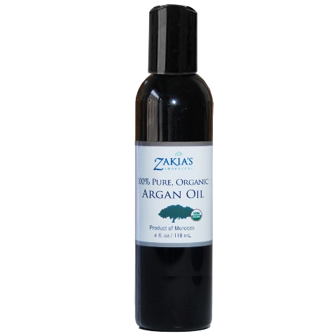 Zakias Morocco Arg-100 4 100 Percentage Pure Organic & Natural Argan Oil - 4 oz