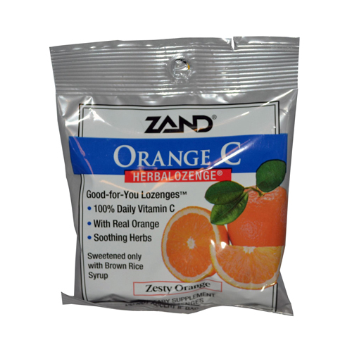 Zand 978254 Zand HerbaLozenge Orange C Natural Orange - 15 Lozenges - Case of 12