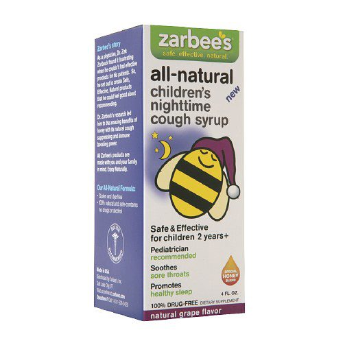 Zarbees 1272038 Grape All Natural Childrens Nightime Cough Syrup 4 oz