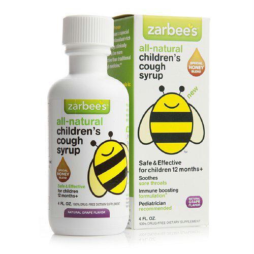 Zarbees All Natural Childrens Cough Syrup - Grape - 4 oz - 1272004