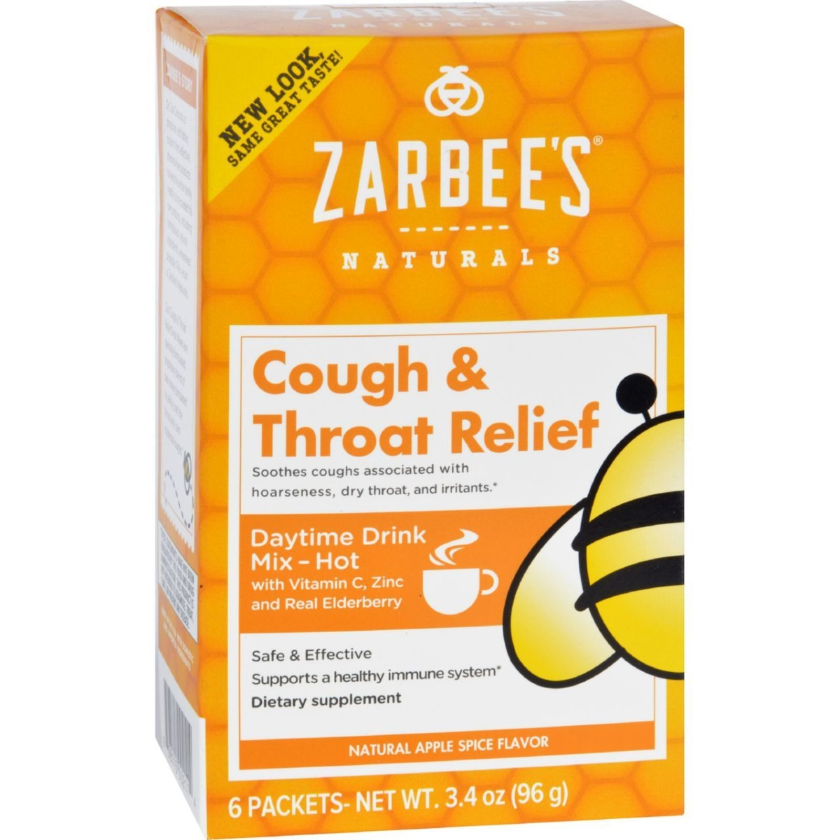 Zarbees ECW1689843 Cough & Throat Relief Drink Mix Daytime Supplement Pack of 6
