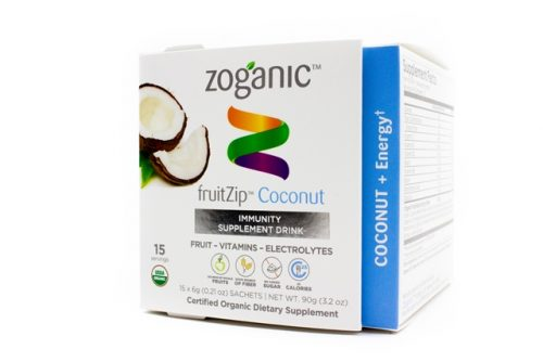 Zoganic fruitZip Energizing Supplement Drink - Coconut 15 sachets