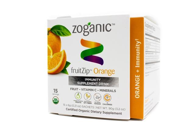 Zoganic fruitZip Immunity Supplement Drink -Orange 15 sachets