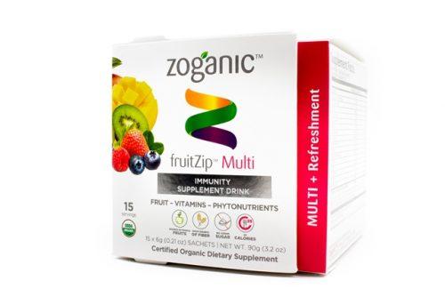 Zoganic fruitZip Refreshing Supplement Drink - Multi 15 sachets
