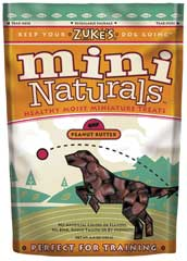 Zuke S Natural Moist Mini Treat Peanut Butter 6 Ounces - 33552