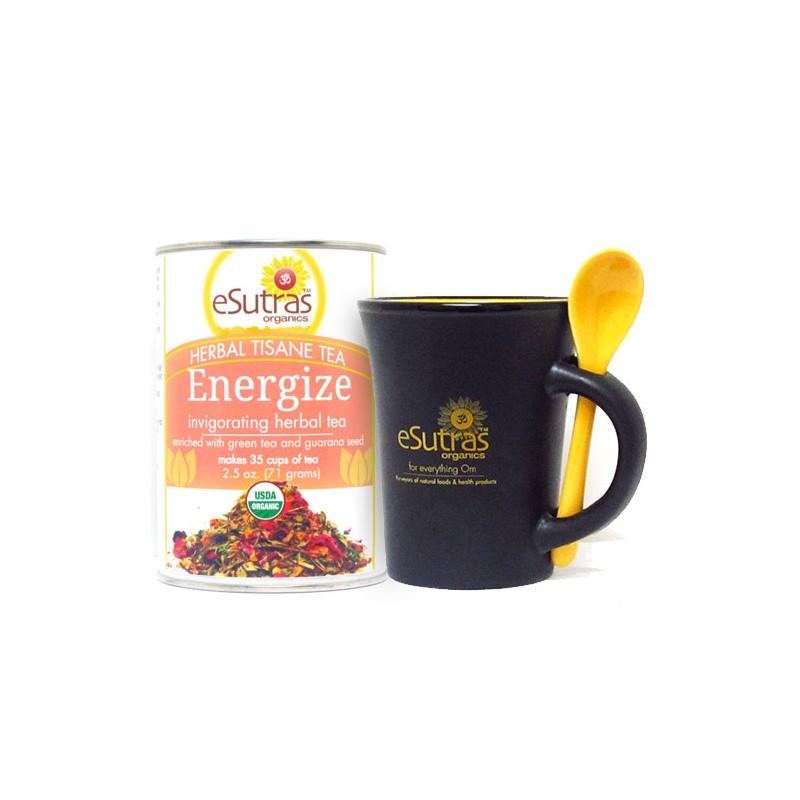 eSutras 13501 Herbal Energize Tea Kit & Spoon Mug