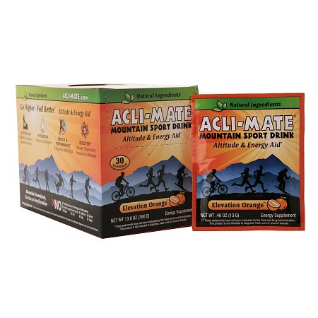 Acli-Mate Mountain Sport Drink Altitude & Energy Aid Packets Elevation Orange - 0.46 oz.