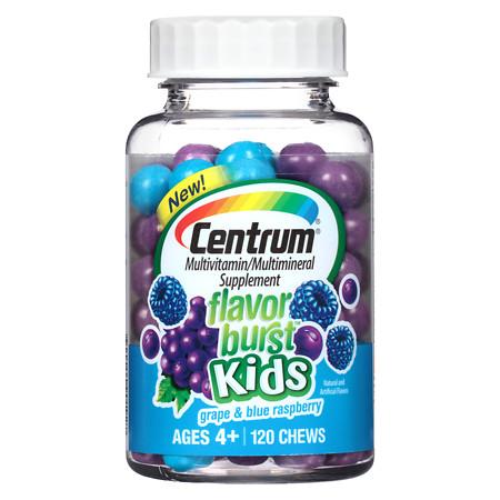 Centrum Kids Flavor Burst Multivitamin Chews Grape - 120 ea