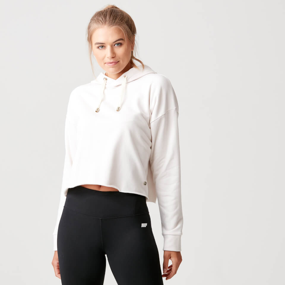 Luxe Lounge Hoodie - Oatmeal - L