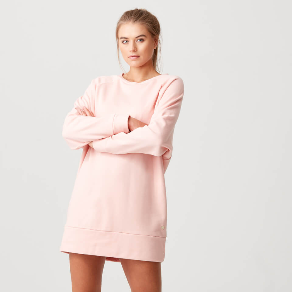 Luxe Lounge Sweater Dress - Blush - M