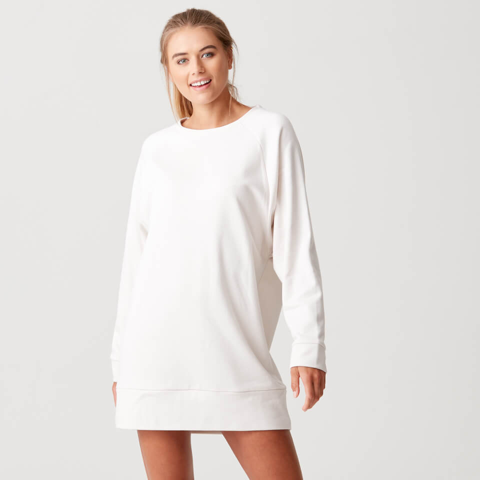 Luxe Lounge Sweater Dress - Oatmeal - L