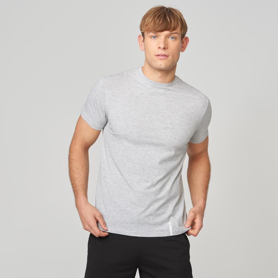 Myprotein Luxe Classic Crew T-Shirt - Grey Marl - XL