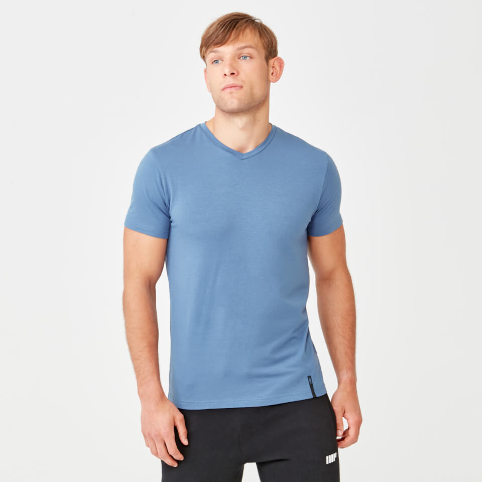 Myprotein Luxe Classic V-Neck - Blue - L