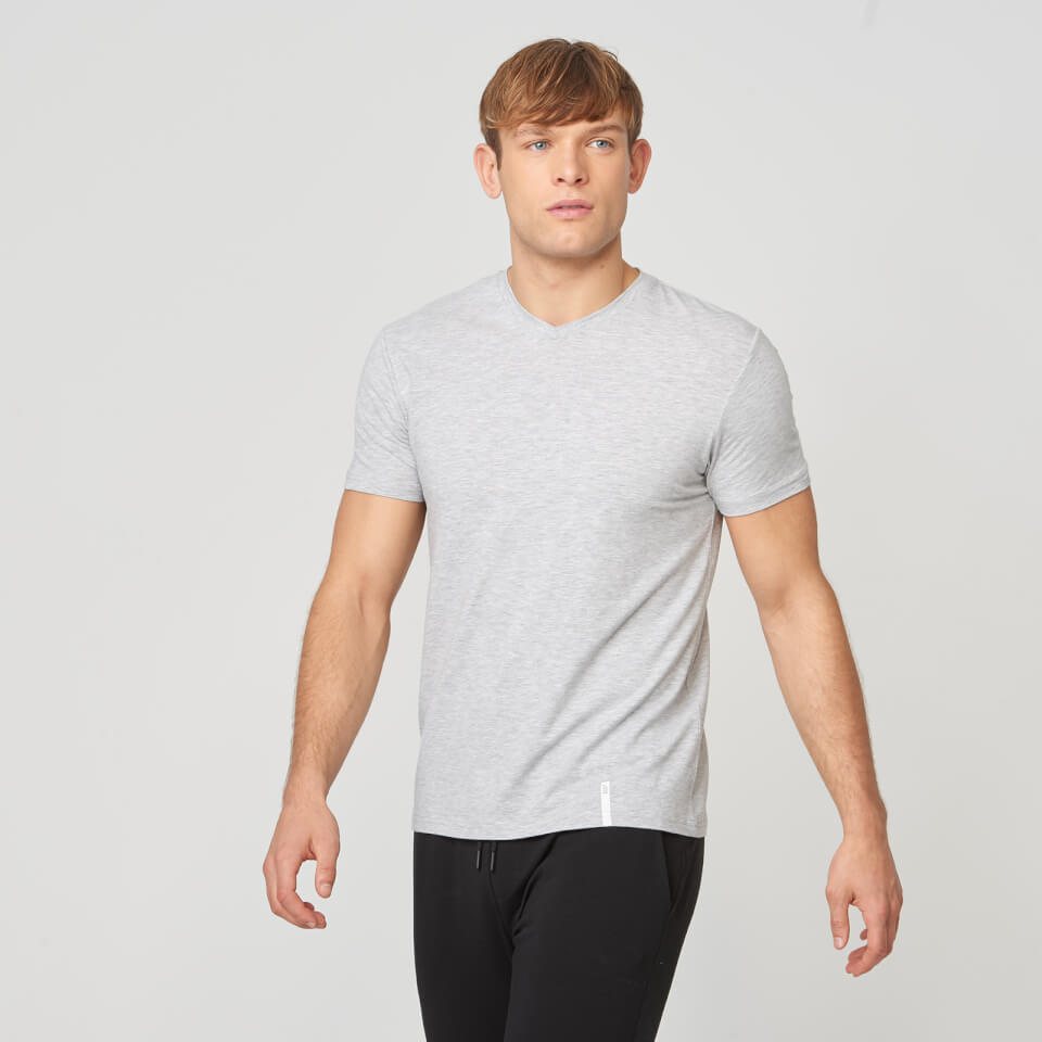 Myprotein Luxe Classic V-Neck T-Shirt - Grey Marl - XXL