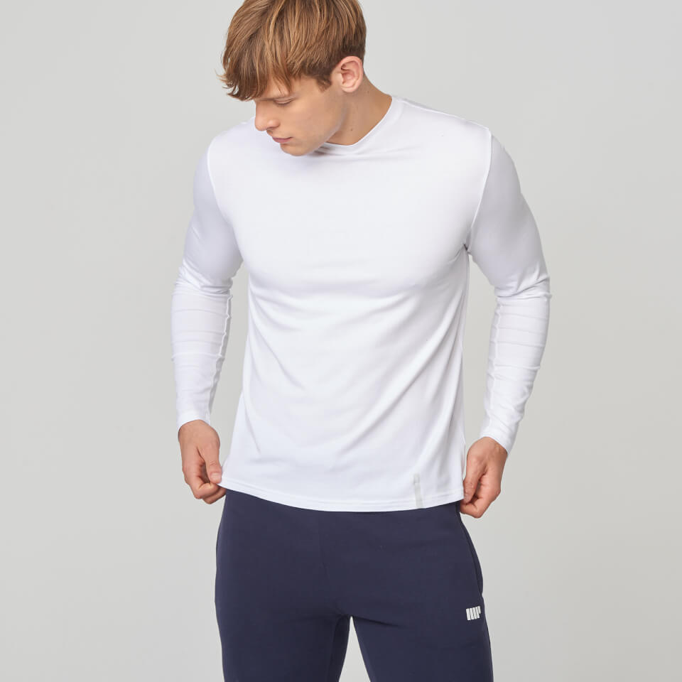 Myprotein Luxe Touch Crew Long Sleeve T-Shirt - White- XS