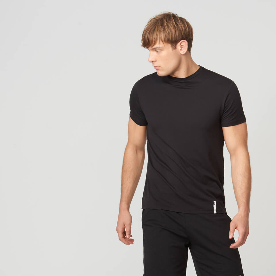Myprotein Luxe Touch Crew Short Sleeve T-Shirt - Black - XS