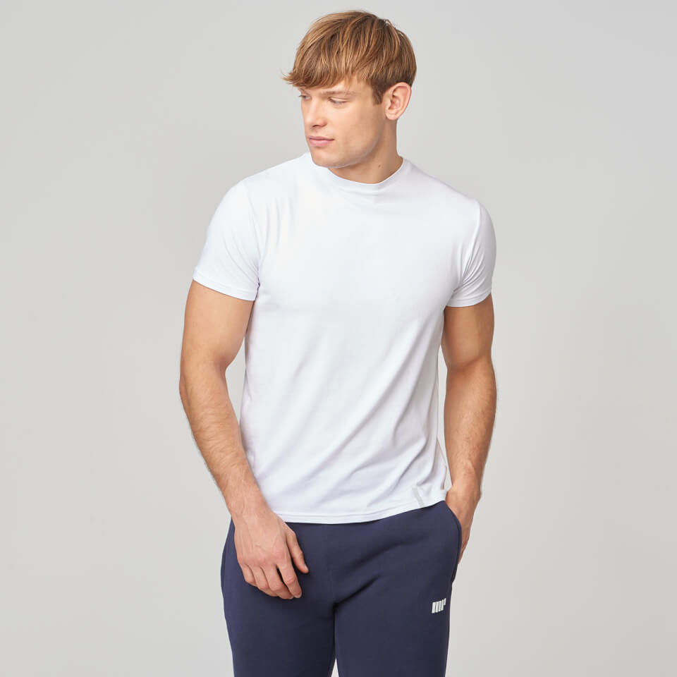 Myprotein Luxe Touch Crew Short Sleeve T-Shirt - White - XS