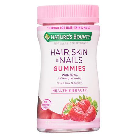 Nature's Bounty Optimal Solutions Hair Skin Nails Gummies - 40 ea