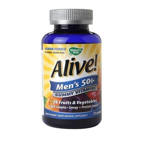 Nature's Way Alive! Men's 50+ Gummy Multivitamin - 75 ea
