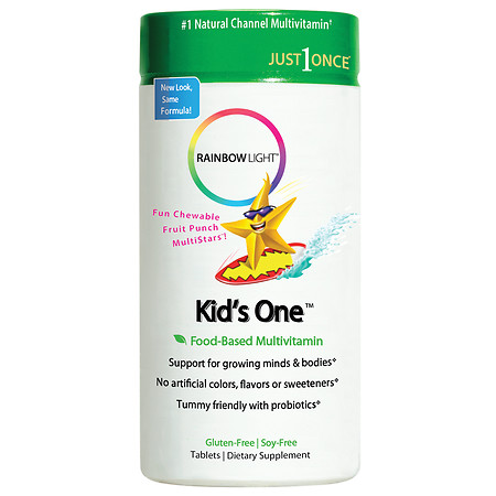 Rainbow Light Kids One MultiStars Food-Based Multivitamin, Tablets Fruit Punch - 90 ea