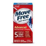 Schiff Move Free Advanced Triple Strength Glucosamine Chondroitin, Coated Tablets - 80 ea