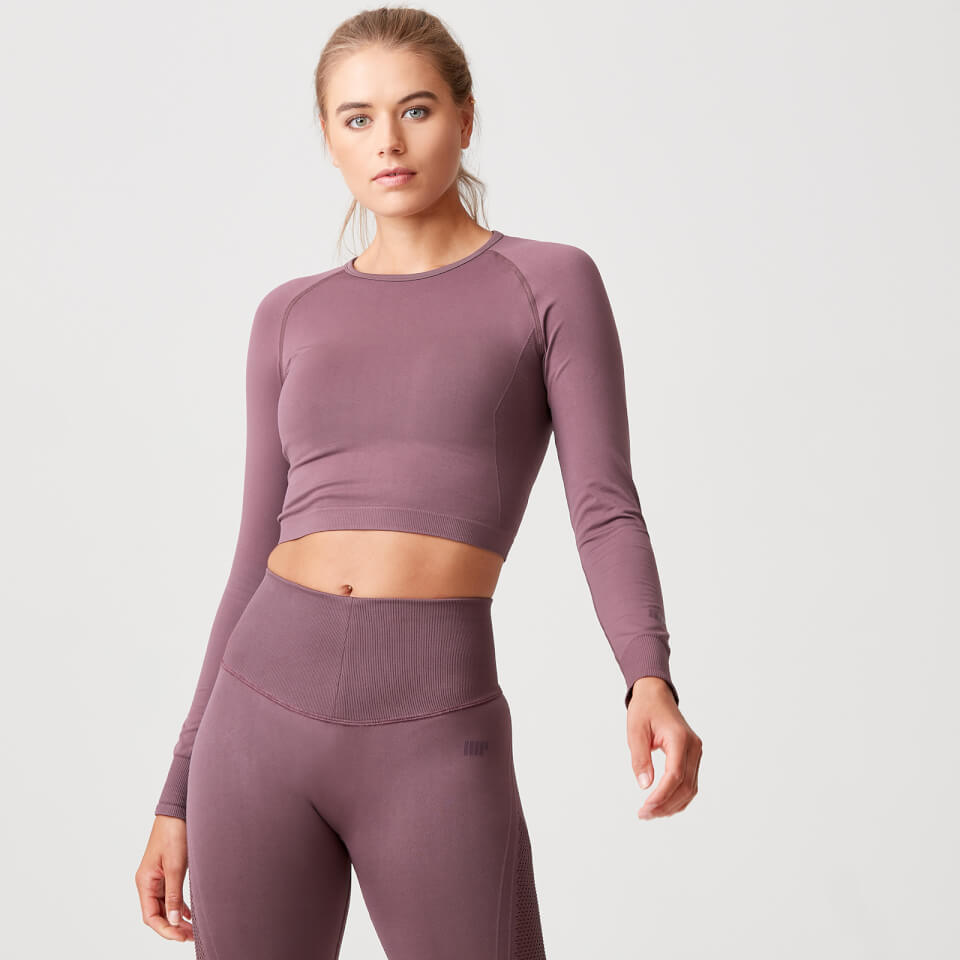 Shape Seamless Crop Top - Mauve - L