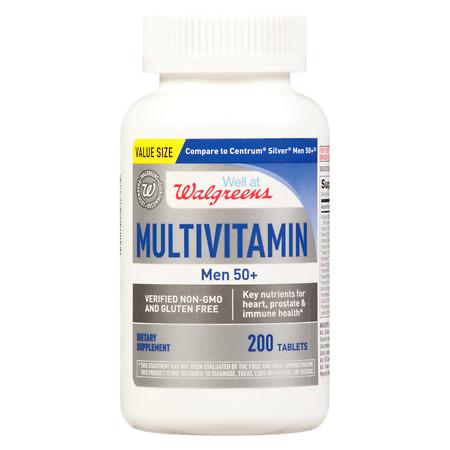 Walgreens Men's 50+ Multivitamin - 200 ea