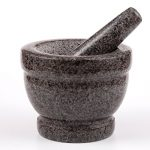 5.5 x 3.9 in. Granite Mortar & Pestle Grey