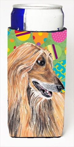 Afghan Hound Easter Eggtravaganza Michelob Ultra bottle sleeves For Slim Cans - 12 Oz.