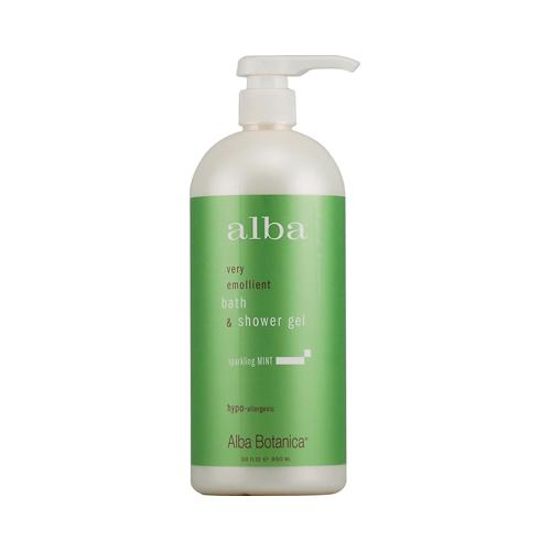 Alba Botanica HG0496562 32 fl oz Very Emollient Bath & Shower Gel Sparkling Mint