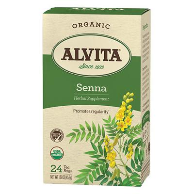 Alvita Teas Organic Herbal Tea Bags - Senna Leaf - 24 Bags
