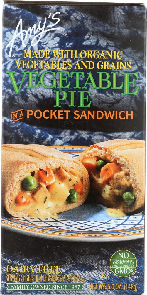 Amys KHFM00030585 Vegetable Pie in a Pocket Sandwich - 5 oz