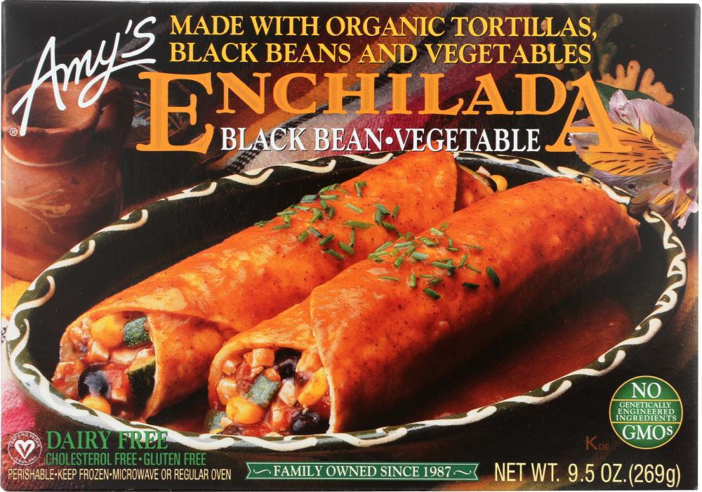 Amys KHFM00030643 Black Bean Vegetable Enchilada - 9.5 oz