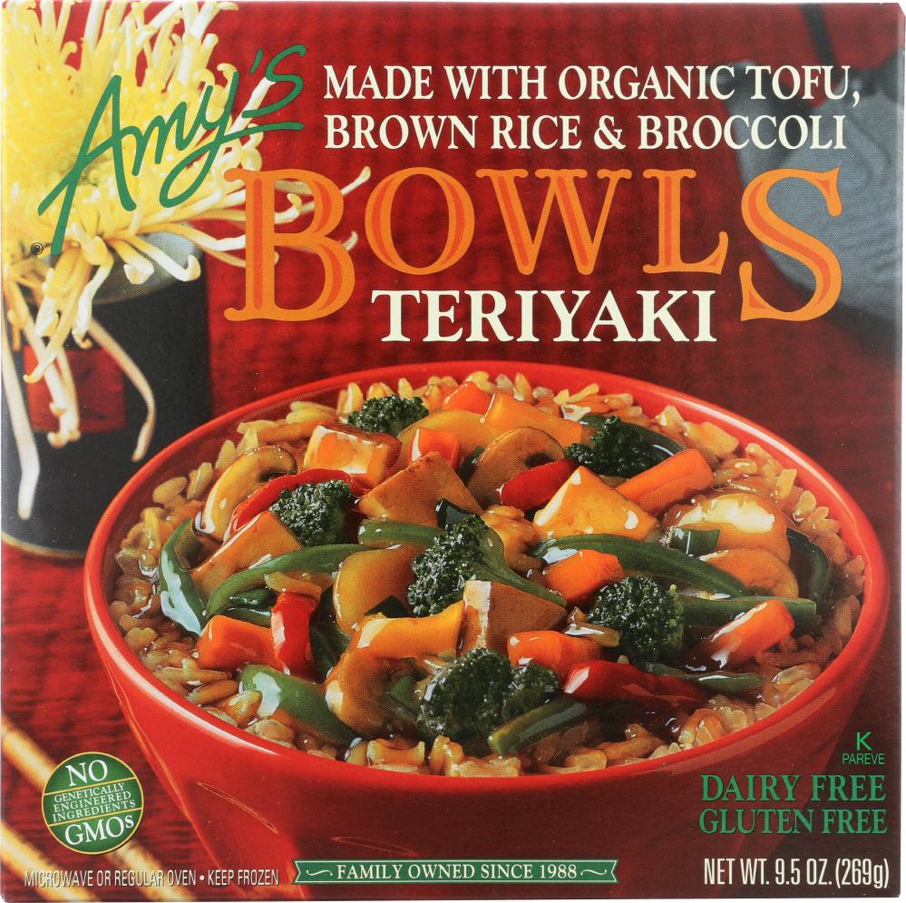 Amys KHFM00032482 Gluten Free Teriyaki Bowl - 9.5 oz