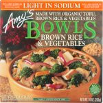 Amys KHFM00033480 Brown Rice & Vegetables Bowl Light in Sodium - 10 oz