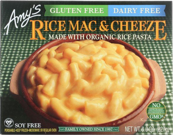 Amys KHFM00038950 Dairy Free Rice Mac & Cheeze - 8 oz