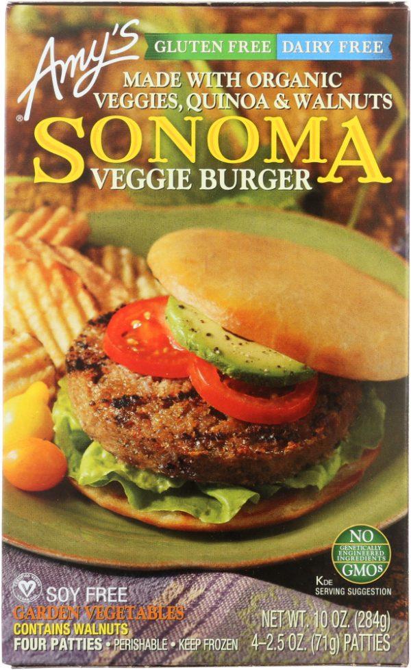 Amys KHFM00063909 Gluten & Dairy Free Sonoma Veggie Burger - 10 oz