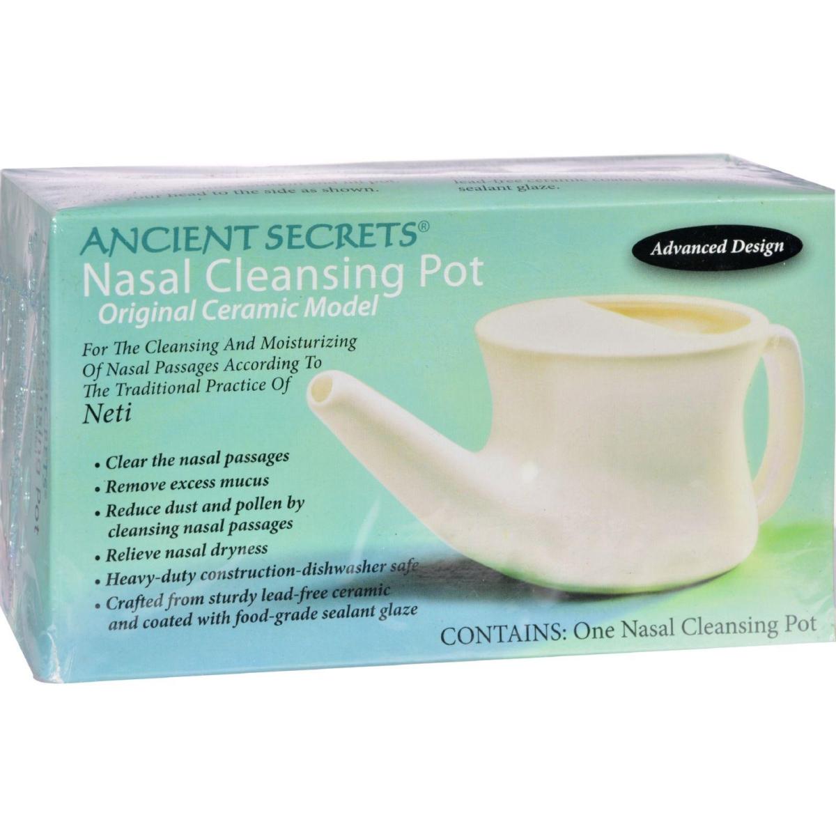 Ancient Secrets HG0201772 Nasal Cleansing Pot - 1 Pot