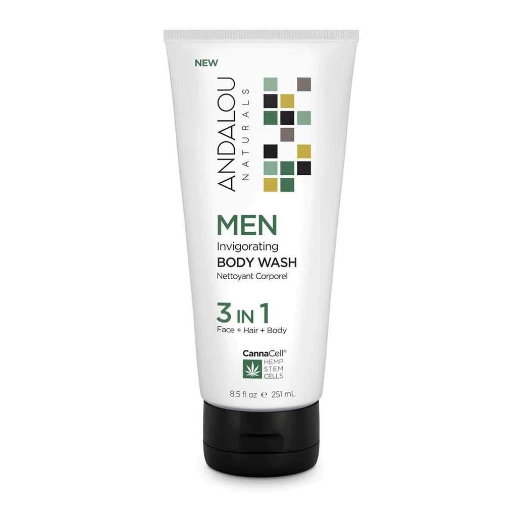 Andalou Naturals 509742 8.5oz Invigorating Body Wash for Men