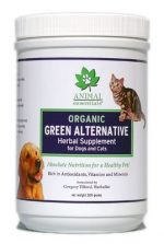 Animal Essentials 630694000040 Herbal Organic Green Dog & Cat Supplement 300g jar