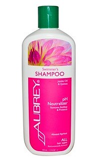 Aubrey Organics 100113 11oz Swimmers Shampoo Almond Apricot - Case of 6