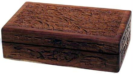AzureGreen FB58 Handcrafted Box W Floral Design