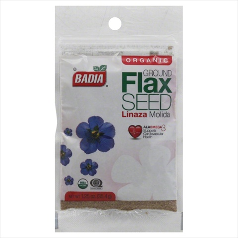 Badia Spices Organic Ground Flax Seed 1.25 Oz. -Pack of 12